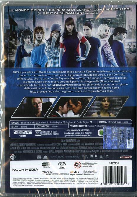Seven Sisters (DVD) di Tommy Wirkola - DVD - 2