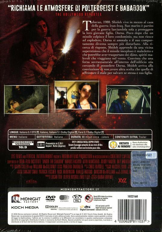 Under the Shadow. Il diavolo nell'ombra. Limited Edition (DVD) di Babak Anvari - DVD - 2