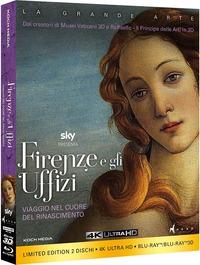 Cover Dvd Firenze e gli Uffizi. Edizione limitata con Booklet  (Ultra HD 4K) (Blu-ray)