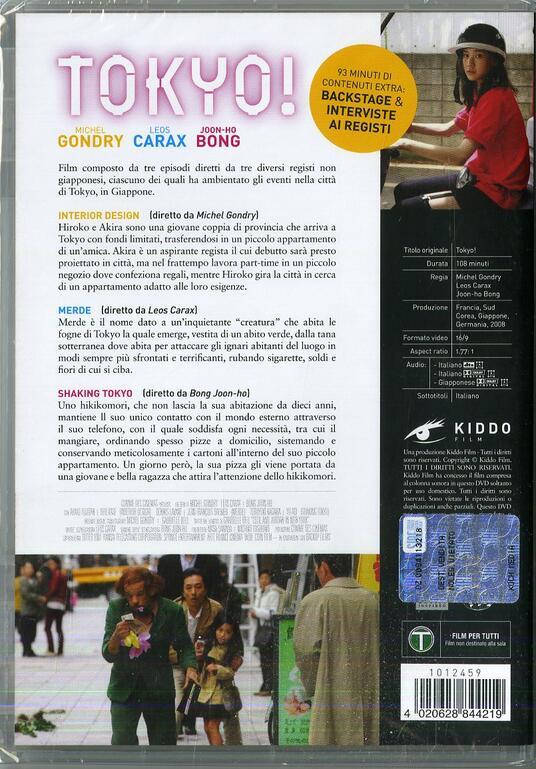 Tokyo! (DVD) di Joon-ho Bong,Leos Carax,Michel Gondry - DVD - 2