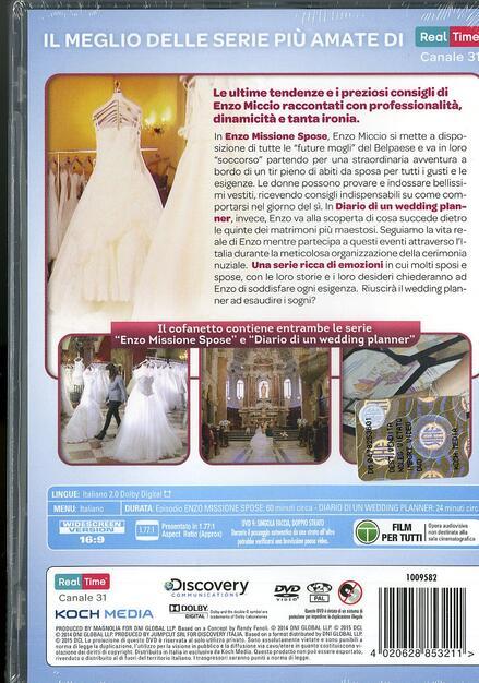 e78257645a14 Enzo missione spose. Diario di un wedding planner (4 DVD) - DVD ...