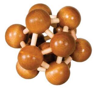 IQ-Test bambù Wooden puzzle Atom - 2