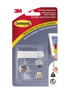 Cartoleria 3M Post-it. Strisce Appendiquadro Size S Command