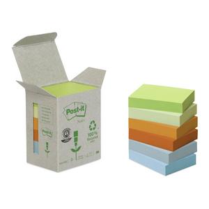 Cartoleria 3M Post-it. Box da 6 Blocchetti di Foglietti Post-it in Carta Riciclata Colori Assortiti Post-it
