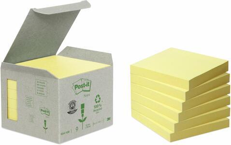 3M Post-it. Box da 6 Blocchetti di Foglietti Post-it Carta Riciclata