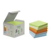 Cartoleria 3M Post-it. Box da 6 Blocchetti di Foglietti Post-it in Carta Riciclata Colori Assortiti Post-it