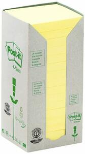 3M Post-it - Torre Da 16 Blocchetti Da 100 Foglietti Post-it Z-notes In Carta Riciclata Colori Assortiti 76x76mm