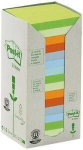 3M Post-it - Box Da 16 Blocchetti Di Foglietti Post-it Z-notes In Carta Riciclata Colori Assortiti