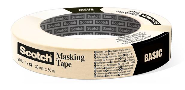 Cartoleria 3M Post-it. Nastro In Carta Per Mascheratura Con Supporto In Carta Crespata E Adesivo Hot Melt 18mmx50m Scotch