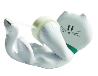3M Post-it. Dispenser Scotch Kitty + Rotolo Di Nastro Adesivo Scotch Magic 810 19mmx8.89m - 4