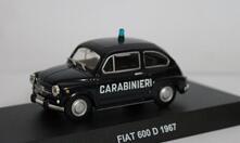 Carabinieri Fiat 600 D 1967 1/43 Diecast