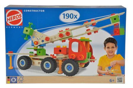 Heros Constructor. Gioco di Costruzione. Camion con Gru 190 Pz 7 Modelli - 2