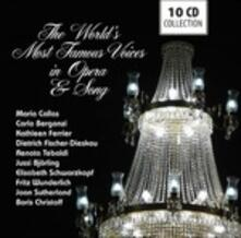 The World's Most Famous Voices in Opera & Song - CD Audio di Maria Callas,Joan Sutherland,Renata Tebaldi,Carlo Bergonzi,Jussi Björling,Dietrich Fischer-Dieskau