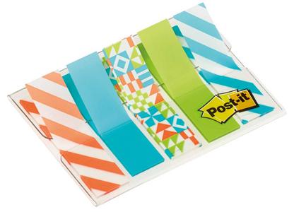 Cartoleria 3M Post-it. Segnapagina Miniset Fantasia Geometrica 5x20 Segnapagine (6 Pz) Post-it