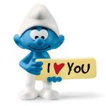 Schleich 2520823. I Puffi. Puffo I Love You