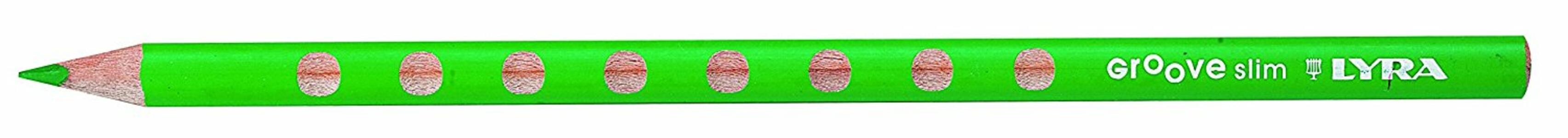 Pastelli Lyra Groove Slim. Scatola 12 matite colorate assortite + temperino - 7