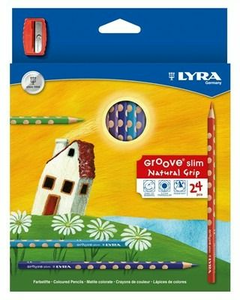 Cartoleria Lyra Groove Slim astuccio appendibile 24 pezzi + temperamatite Lyra