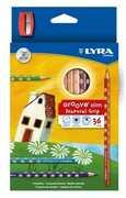 Cartoleria Lyra Groove Slim astuccio appendibile 36 pezzi + temperamatite Lyra