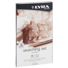 Cartoleria Set Lyra Rembrandt High Quality Sketching Pencil. Astuccio in metallo 11 pezzi Lyra