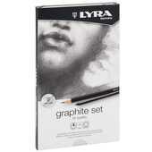 Cartoleria Set Lyra Rembrandt High Quality Graphite. Astuccio in metallo 11 pezzi Lyra