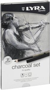 Set Lyra Rembrandt High Quality Charcoal. Astuccio in metallo 11 pezzi