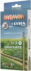 Cartoleria Pastelli Lyra Graduate. Scatola 12 matite colorate assortite Lyra