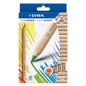 Cartoleria Pastelli Lyra Color Giants Nature. Scatola 12 matite colorate assortite Lyra