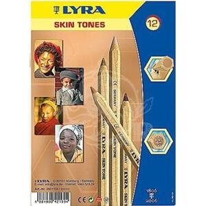 Pastelli Lyra Color Giants Skin Tones. Scatola 12 matite colorate assortite