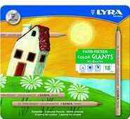 Cartoleria Lyra Color Giants Nature scatola in metallo 18 pezzi Lyra