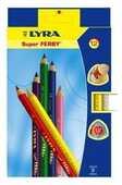 Cartoleria Pastelli Lyra Super Ferby. Scatola 12 matite colorate assortite Lyra
