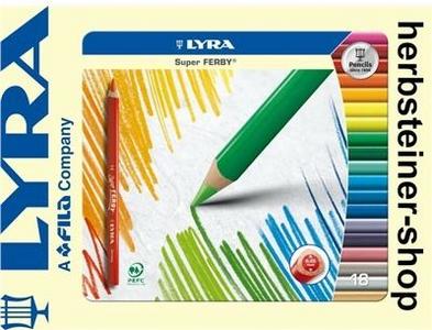 Cartoleria Lyra Super Ferby scatola in metallo 18 pezzi Lyra