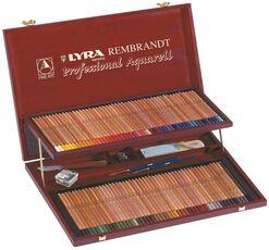 Cartoleria Pastelli acquarellabili Lyra Rembrandt Aquarell. Confezione prestige in legno Lyra