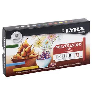 Gessetti Lyra Polycrayons Soft. Astuccio 12 colori assortiti