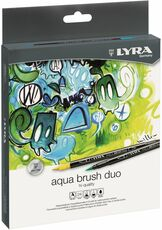 Cartoleria Pennarelli Lyra Aqua Brush Duo. Astuccio 24 colori assortiti Lyra