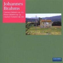 Clarinet Quintet - Piano qu - CD Audio di Johannes Brahms
