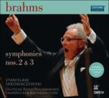 Sinfonie n.2, n.3 - CD Audio di Johannes Brahms