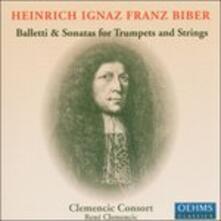 Balletto & Sonatas for tr - CD Audio di Heinrich Ignaz Franz Von Biber