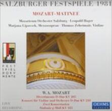 Mozart Matinee Salzburger - CD Audio di Wolfgang Amadeus Mozart