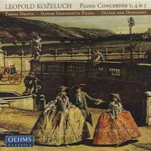 Concerti per Pianoforte n.1, n.4, n.5 - CD Audio di Leopold Antonin Kozeluch