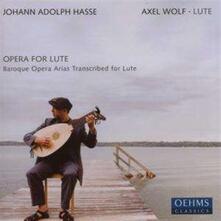 Opera For Lute - CD Audio di Johann Adolph Hasse