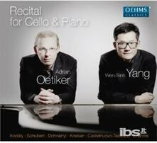 Recital for Cello & Piano - CD Audio
