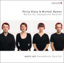 Quartetto per archi n.3 - Quartetto per sassofoni / Songs for Tony - CD Audio di Philip Glass,Michael Nyman,Sonic.art Saxophonquartett