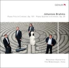 Trio per Pianoforte Violino e Violoncello n.3 Op.101; Quartetto n.1 Op.25 - CD Audio di Johannes Brahms