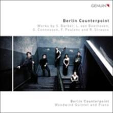 Musica per quintetto di fiati e pianoforte - CD Audio di Berlin Counterpoint