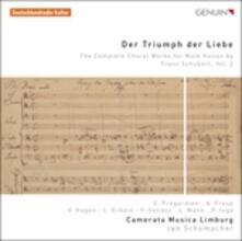 Opere per coro maschile (Integrale) - CD Audio di Franz Schubert