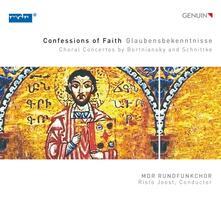 Confessions of Faith - Concerti corali di Bortniansky e Schnittke - CD Audio di Dmitry Bortniansky,MDR Rundfunkchor