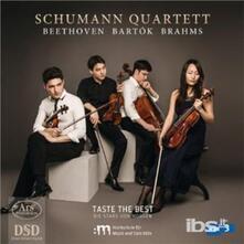 Quartetti D'archi - SuperAudio CD di Ludwig van Beethoven,Johannes Brahms,Bela Bartok