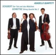 La morte e la fanciulla / Quartetto per archi n.3 - CD Audio di Franz Schubert,Alfred Schnittke,Asasello Quartet