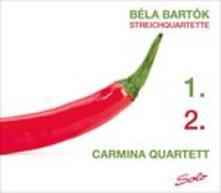 Quartetti per Archi 1 & 2 - CD Audio di Bela Bartok