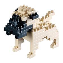 Puzzle Brixies Pug, Nero, Grigio, Plastica